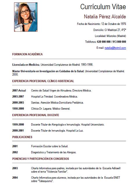 Curriculum Vitae Medico Firmakoek