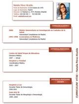 cv médico-enfermera n° 35 trabajar en hospitales y clinicas privadas