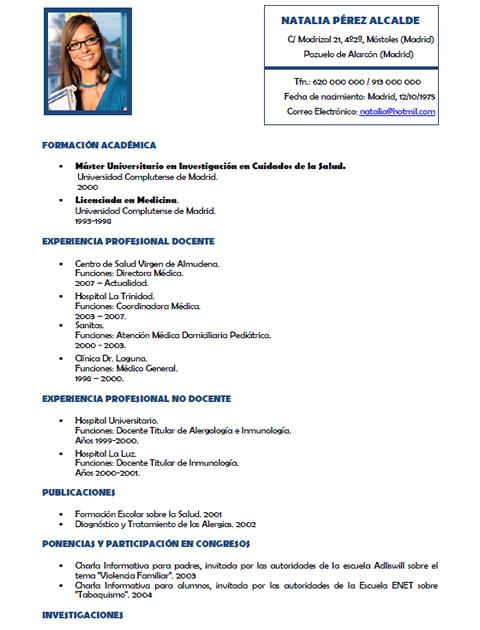 sanidad-3-full Curriculum Vitae Medico on