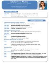 cv médico-enfermera n° 78 empleo hospitales y clinicas privadas