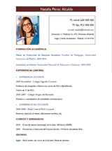 currículum profesor n° 86 - empleo en hoteles
