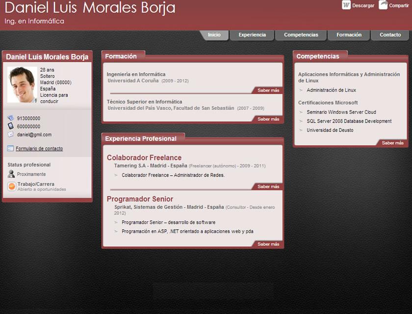 ejemplos y modelos de curriculum online para enviar a empresas