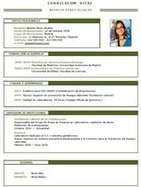 currículum profesor n° 35 -  cv industrias químicas, alimentacion