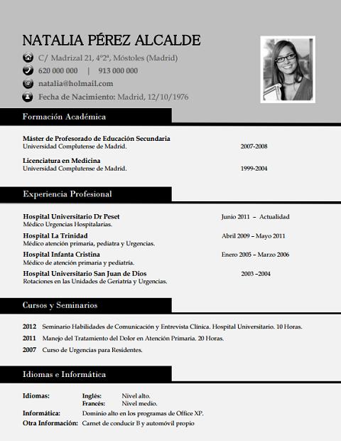 currículum profesor n° 8 - enviar cv laboratorios farmaceuticos