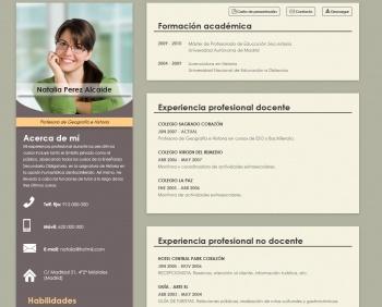 currículum online profesor n° 1 - para colegios privados