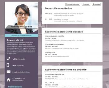 currículum online profesor n° 8 - trabajo en colegios