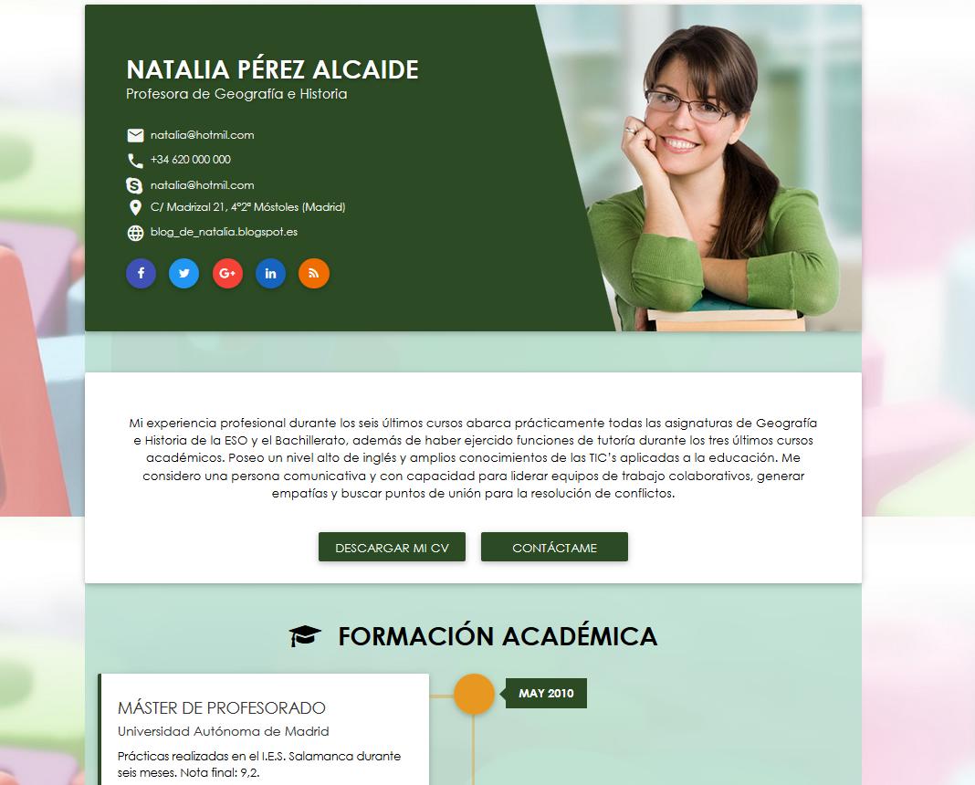 Infografía del curriculum. Ejemplos y plantillas. | cvExpres