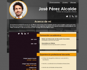 currículum online profesor n° 33 - para colegios privados