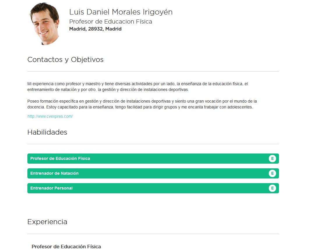 Elaboración de la infografía del curriculum de profesores. Modelos y ...