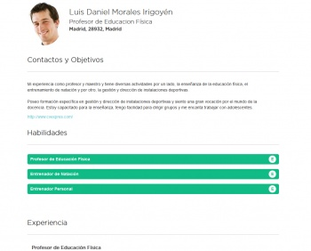 currículum online profesor n° 44 - envio curriculum hoteles