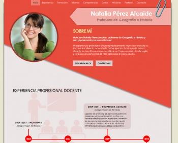 currículum online profesor n° 1 - para enviar a colegios