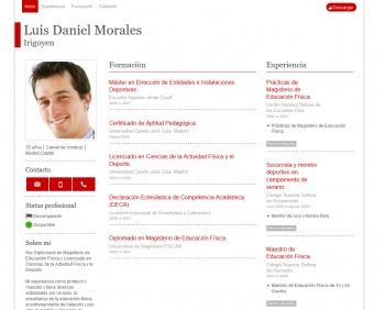currículum online profesor n° 1 - para mandar a colegios