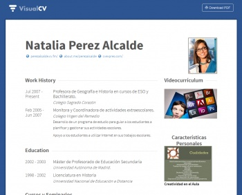currículum online profesor n° 1 - trabajo en colegios