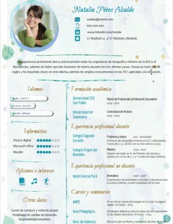 currículum profesor n° 77 - para mandar a escuelas