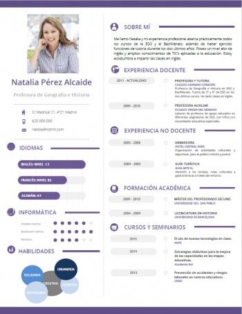 currículum profesor n° 50 - trabajar en colegios