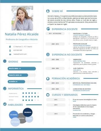 currículum profesor n° 56 - trabajar en colegios