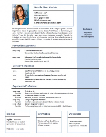 currículum profesor n° 106 - para mandar a escuelas