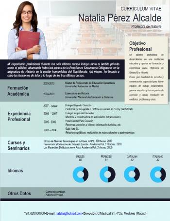 currículum profesor n° 182 - empleo en colegios