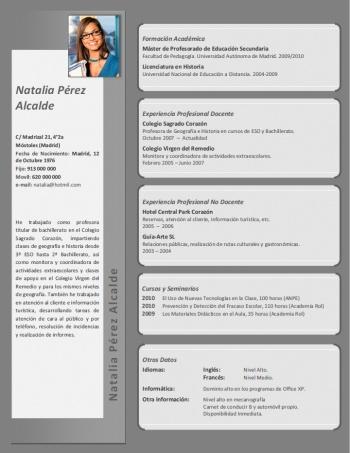 currículum profesor n° 45 - enviar cv colegios