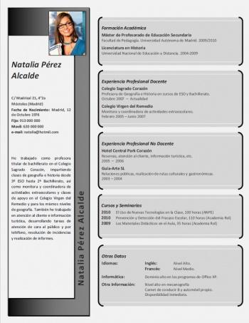 currículum profesor n° 130 - enviar cv colegios