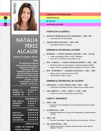 currículum profesor n° 164 - para mandar a colegios