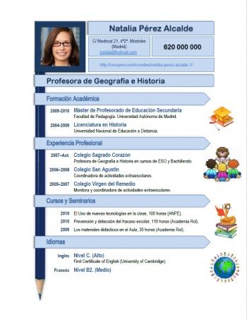 currículum profesor n° 123 - buscar empleo en colegios