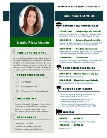 currículum profesor n° 113 - buscar empleo en colegios