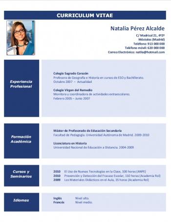 currículum profesor n° 173 - empleo colegios privados