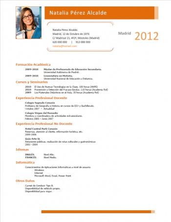 currículum profesor n° 177 - para mandar a colegios