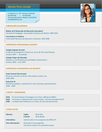 currículum profesor n° 223 - enviar cv colegios