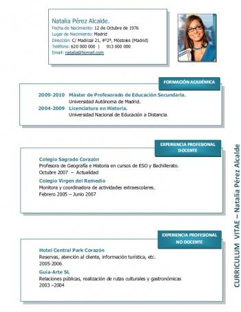 currículum profesor n° 162 - para colegios privados