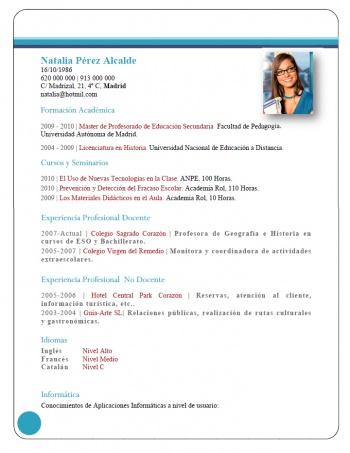 currículum profesor n° 227 - buscar empleo en colegios