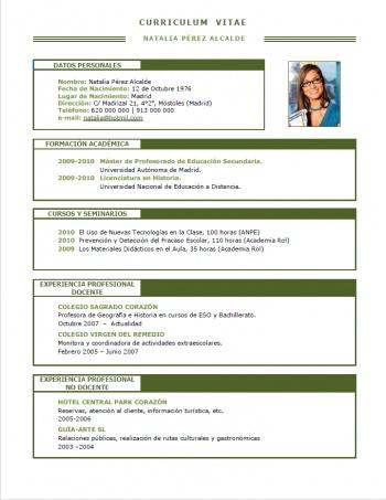 currículum profesor n° 229 - para colegios privados