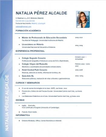 currículum profesor n° 7 - trabajar en colegios