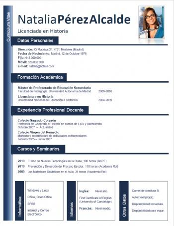 currículum profesor n° 56 - trabajo colegios privados