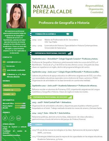 currículum profesor n° 39 - para colegios privados