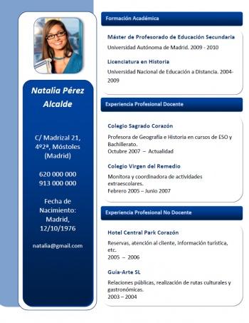 currículum profesor n° 168 - buscar empleo en colegios