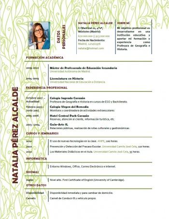 currículum profesor n° 217 - para mandar a colegios