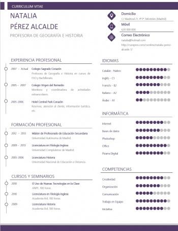 currículum profesor n° 132 - para colegios privados