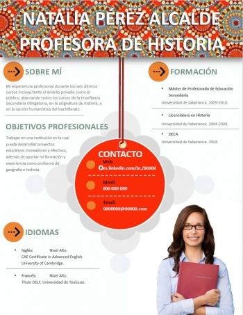 currículum profesor n° 208 - buscar empleo en colegios