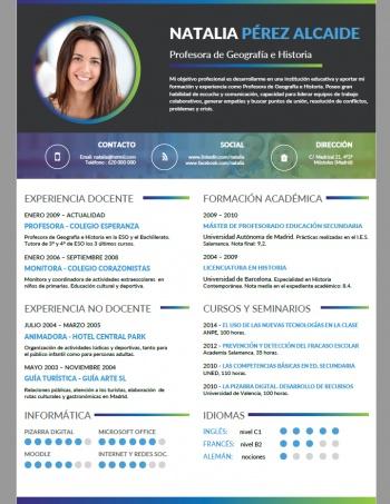 currículum profesor n° 59 - empleo colegios privados