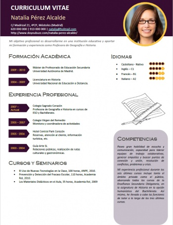 currículum profesor n° 53 - para mandar a escuelas