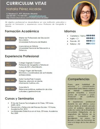currículum profesor n° 86 - enviar cv colegios