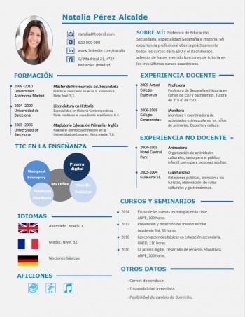 currículum profesor n° 25 - para colegios privados