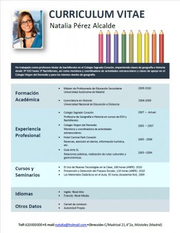 currículum profesor n° 136 - empleo colegios privados