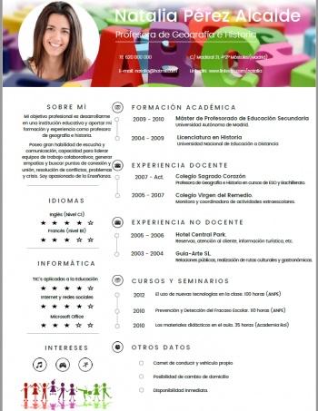 currículum profesor n° 9 - trabajar en colegios