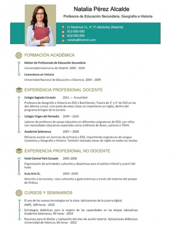 currículum profesor n° 36 - para mandar a colegios