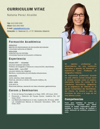 currículum profesor n° 176 - trabajar en colegios