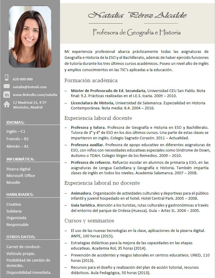 Curriculum Vitae Con Foto Plks Tk